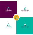 alphabet logo design for business company vector image vector image
