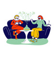 aromatherapy concept couple female characters vector image