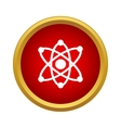 Atom with electrons icon simple style vector image vector image
