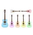 Beautiful Colorful Classical Guitars vector image