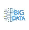 big data color icon vector image vector image