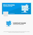 blue business logo template for art computer vector image vector image