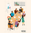 business meeting with vector image