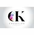 ck vibrant creative leter logo design vector image vector image