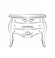 Classic furniture with ornaments vector image