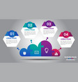 cloud design business infographics 4 steps options vector image vector image