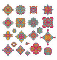 colorful graphics of decorative ornaments vector image