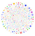 confetti stars spiral globula vector image vector image