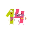 Cute and funny colorful 14 number characters vector image vector image