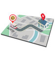 delivery road map for truck background imag vector image