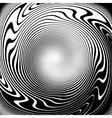 Design monochrome vortex movement background vector image vector image