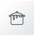 dirty pot icon line symbol premium quality vector image vector image
