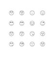 emoticons simple linear icons set outlined icons vector image vector image