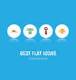 flat icon garment set of elegant headgear cravat vector image vector image