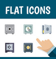 flat icon strongbox set of coins protection vector image vector image