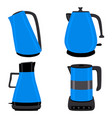 for set of colored electric teapots vector image