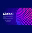 global technology landing page globe abstract vector image