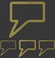 Golden line speech logo design set vector image vector image
