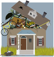 Hoarder House vector image vector image