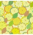 lemon seamless pattern with leaves vector image vector image