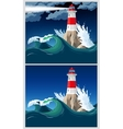 Lighthouse on the rock vector image vector image