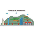 minnesota minneapoliscity skyline architecture vector image vector image