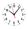 mockup clock face minute hour and second vector image vector image