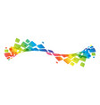 multicolor curve rainbow waved lines vector image vector image