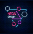 neon abstract glowing design geometric background vector image