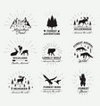 outdoor emblems set wilderness quotes vector image