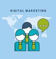 people talking world digital marketing vector image vector image