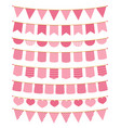 pink bunting vector image vector image