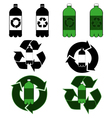 Plastic bottle recycling vector image