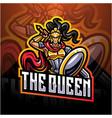 queen esport mascot logo vector image vector image