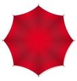 Red rain umbrellas vector image