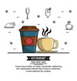 restaurant food music and beer vector image
