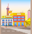 road and cityscape advertising on billboard city vector image vector image