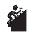 roof repair black concept icon roof repair vector image