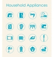 Set of household appliances simple icons vector image