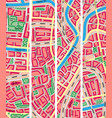 set vertical banner map unknown city vector image