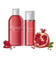 shampoo and lotion cosmetics realistic mock up vector image vector image