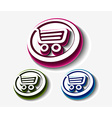 shopping cart set vector image vector image