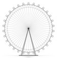 silhouetted carousel ferris wheel high openwork vector image