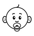Simple cartoon a cute baby