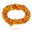 Speech bubble of autunm fall orange leaves vector image