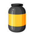 sports nutrition jar vector image