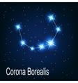 The constellation Corona Borealis star in the vector image vector image