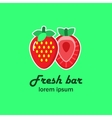 The logo with the image of two strawberries vector image vector image