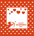 valentines day greeting card with cupid vector image