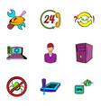 webmaster icons set cartoon style vector image vector image